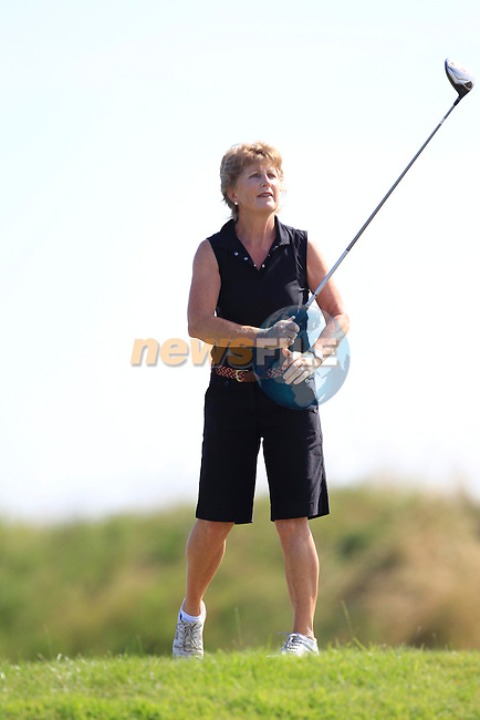 Breda Moore (The Seapoint Birdies) during The Clogherhead RNLI Annual Golf Classic sponsored by Carberry Holiday Parks at Seapoint Golf Club on Friday 25th July 2014.<br /> Picture:  Thos Caffrey / www.newsfile.ie