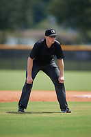 Umpire Jacob McConnell during a Gulf Coast League game between the GCL Phillies East and GCL Yankees East on July 31, 2019 at Yankees Minor League Complex in Tampa, Florida.  (Mike Janes/Four Seam Images)