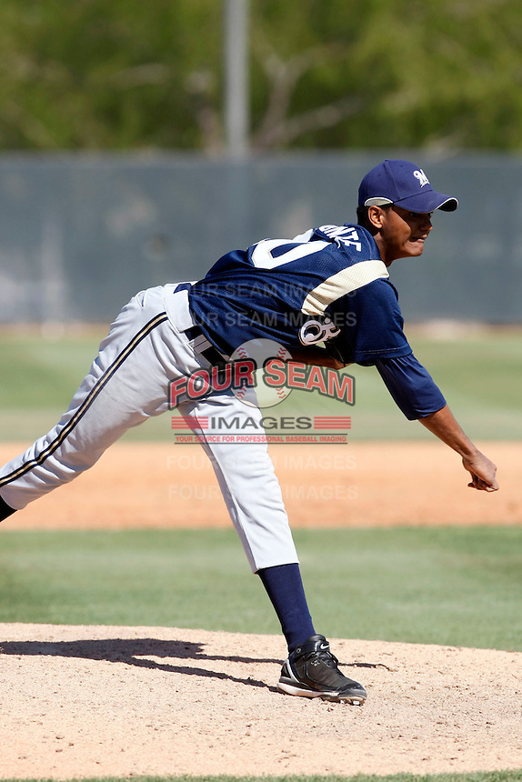 Rigoberto Almonte - Milwaukee Brewers - 2009 spring training.Photo by:  Bill Mitchell/Four Seam Images