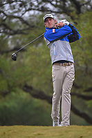 Richy Werenski (USA) watches his tee shot on 2 during Round 3 of the Valero Texas Open, AT&T Oaks Course, TPC San Antonio, San Antonio, Texas, USA. 4/21/2018.<br /> Picture: Golffile | Ken Murray<br /> <br /> <br /> All photo usage must carry mandatory copyright credit (© Golffile | Ken Murray)