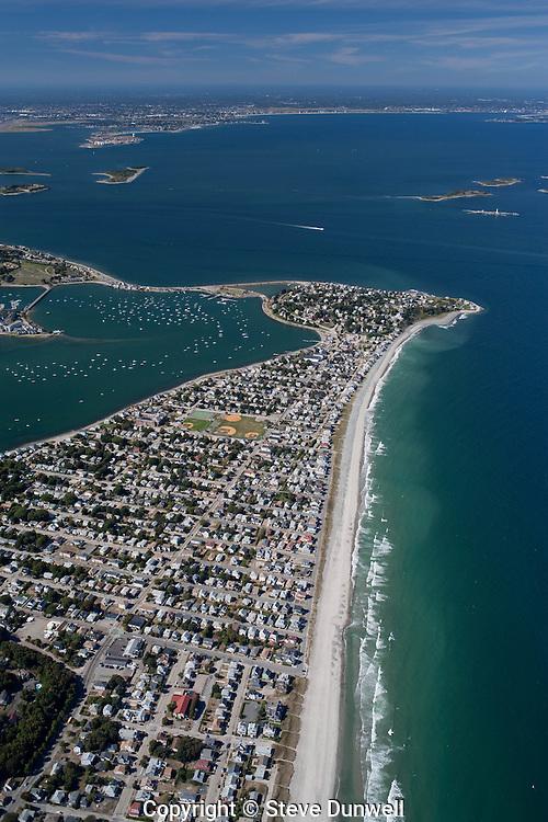 Nantasket beach, Boston harbor, aerials, Hull, MA