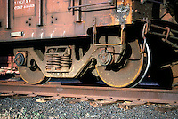 RUST<br /> Close up, Train Wheel<br /> Utah
