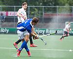 AMSTELVEEN -  Sander de Wijn (Kampong)   tijdens  de  eerste finalewedstrijd van de play-offs om de landtitel in het Wagener Stadion, tussen Amsterdam en Kampong (1-1). Kampong wint de shoot outs.  . COPYRIGHT KOEN SUYK