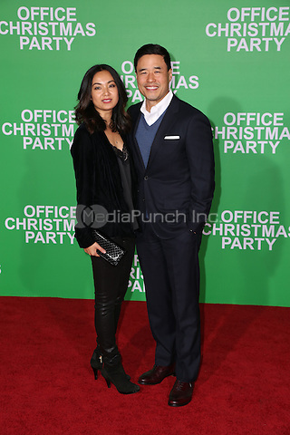 WESTWOOD, CA - DECEMBER 07: Randall Park, Jae Suh Park arrives at the premiere of Paramount Pictures' 'Office Christmas Party' at Regency Village Theatre on December 7, 2016 in Westwood, California.  (Credit: Parisa Afsahi/MediaPunch).