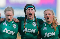 2nd February 2020; Energia Park, Dublin, Leinster, Ireland; International Womens Rugby, Six Nations, Ireland versus Scotland; Anna Caplice of Ireland during the playing of the national anthem