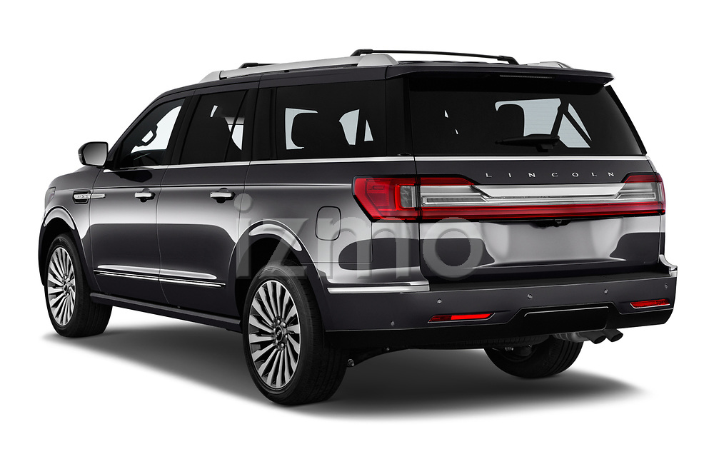 Car pictures of rear three quarter view of a 2019 Lincoln Navigator L Reserve 5 Door Wagon angular rear
