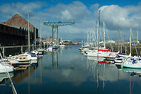 The Titan Crane and the James Watt Dock, Greenock, Inverclyde