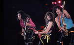 Gene Simmons, Vinnie Vincent & Paul Stanley of KISS