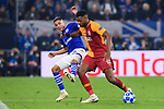 06.11.2018, VELTINS Arena, Gelsenkirchen, Deutschland, GER, UEFA Champions League, Gruppenphase, Gruppe D, FC Schalke 04 vs. Galatasaray Istanbul<br /> <br /> DFL REGULATIONS PROHIBIT ANY USE OF PHOTOGRAPHS AS IMAGE SEQUENCES AND/OR QUASI-VIDEO.<br /> <br /> im Bild Zweikampf zwischen Amine Harit (#25 Schalke) und Ryan Donk (#15 Istanbul)<br /> <br /> Foto &copy; nordphoto / Kurth