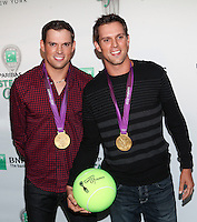 US Olympic Gold Medalists Bob and Mike Bryan attend the 13th Annual 'BNP Paribas Taste of Tennis' at the W New York.  New York City, August 23, 2012. © Diego Corredor/MediaPunch Inc. /NortePhoto.com<br />