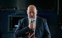Bill Dempsey Chairman of Jersey during the Greene King IPA Championship match between London Scottish Football Club and Jersey at Richmond Athletic Ground, Richmond, United Kingdom on 7 November 2015. Photo by Andy Rowland.