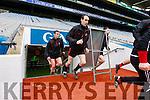 Bernard Murphy Glenbeigh Glencar in action against  Rock Saint Patricks in the Junior Football All Ireland Final in Croke Park on Sunday.