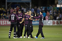 Somerset celebrate a comprehensive victory during Essex Eagles vs Somerset, Vitality Blast T20 Cricket at The Cloudfm County Ground on 7th August 2019