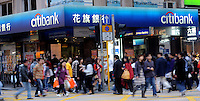 A Citibank branch in Hong Kong..
