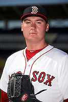 GCL Red Sox pitcher Max Watt poses for a photo before the first game of a doubleheader against the GCL Rays on August 4, 2015 at Charlotte Sports Park in Port Charlotte, Florida.  GCL Red Sox defeated the GCL Rays 10-2.  (Mike Janes/Four Seam Images)