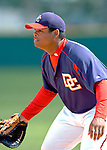 14 March 2006: Daryle Ward, infielder for the Washington Nationals, is ready for action during a Spring Training game against the Florida Marlins. The Marlins defeated the Nationals 2-1 at Space Coast Stadium, in Viera, Florida...Mandatory Photo Credit: Ed Wolfstein..