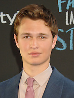 NEW YORK CITY, NY, USA - JUNE 02: Ansel Elgort at the New York Premiere Of 'The Fault In Our Stars' held at Ziegfeld Theatre on June 2, 2014 in New York City, New York, United States. (Photo by Celebrity Monitor)