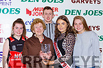 Ellen O'Sullivan Scartaglen is presented the supporter of the year award by Shauna Ahern Miss basketball with her grandchildren l-r: Rachel O'Sullivan, Ciaran Owens, and Ciara O'Sulivan