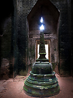 Stupa in the central sanctuary, Preah Khan, Angkor, Siem Reap, Cambodia -