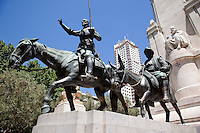 29 MAY 2009 - MADRID,ESP - The Monumento a Cervantes in Plaza de Espana (PHOTO (C) NIGEL FARROW)
