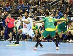 11.01.2019, Mercedes Benz Arena, Berlin, GER, BRA vs. FRA, im Bild <br /> Thiago Ponciano (BRA #35), Timothey N Guessan (FRA #17)<br /> <br />      <br /> Foto &copy; nordphoto / Engler