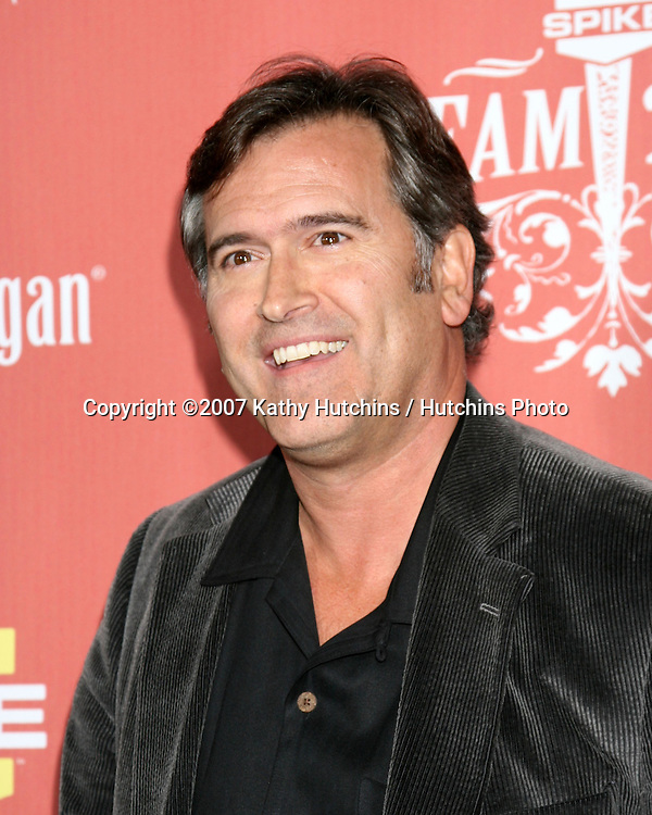 "Bruce Campbell.Spike TV's ""Scream 2007"" Awards.The Greek Theater.Los Angeles,  CA.October 19, 2007.©2007 Kathy Hutchins / Hutchins Photo...               ."