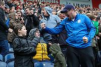 Preston North End fans celebrate after their side were awarded a second penalty kick<br /> <br /> Photographer Alex Dodd/CameraSport<br /> <br /> The EFL Sky Bet Championship - Preston North End v Bristol City - Saturday 28th September 2019 - Deepdale Stadium - Preston<br /> <br /> World Copyright © 2019 CameraSport. All rights reserved. 43 Linden Ave. Countesthorpe. Leicester. England. LE8 5PG - Tel: +44 (0) 116 277 4147 - admin@camerasport.com - www.camerasport.com