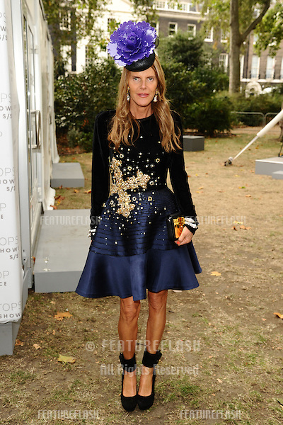Anna Dello Russo arriving at the Unique catwalk show as part of London Fashion Week SS13, Top Shop Venue, Bedford Square, London. 16/09/2012 Picture by: Steve Vas / Featureflash