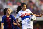 UEFA Women's Champions League 2017/2018.<br /> Quarter Finals.<br /> FC Barcelona vs Olympique Lyonnais: 0-1.<br /> Patricia Guijarro vs Amel Majri.