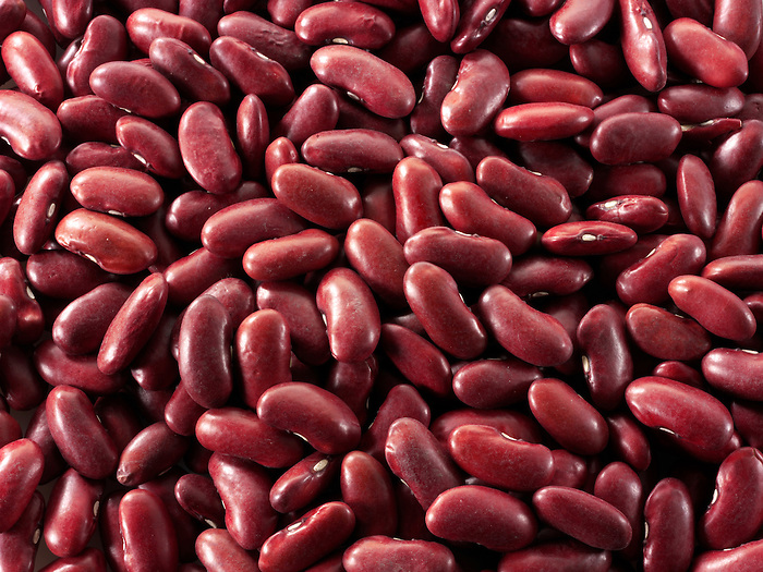 Whole un-cooked Red Kidney Beans - stock photos