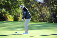 October 12, 2017:  Match action from the Weymouth vs Bridgewater-Raynham varsity golf match played at Old Scotland Links, in Bridgewater, Mass. Eric Canha/BridgewaterSports.com