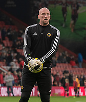 Wolverhampton Wanderers' John Ruddy during the pre-match warm-up<br /> <br /> Photographer David Horton/CameraSport<br /> <br /> The Premier League - Bournemouth v Wolverhampton Wanderers - Saturday 23rd November 2019 - Vitality Stadium - Bournemouth<br /> <br /> World Copyright © 2019 CameraSport. All rights reserved. 43 Linden Ave. Countesthorpe. Leicester. England. LE8 5PG - Tel: +44 (0) 116 277 4147 - admin@camerasport.com - www.camerasport.com