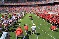 The Ohio State University Football team Spring Game Michigan. Columbus, OH. April 12, 2014