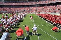 The Ohio State University Football team Spring Game Michigan. Columbus, OH. April 12, 2014