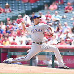 Yu Darvish (Rangers),<br /> APRIL 13, 2017 - MLB :<br /> Texas Rangers starting pitcher Yu Darvish pitches during the Major League Baseball game against the Los Angeles Angels of Anaheim at Angel Stadium of Anaheim in Anaheim, California, United States. (Photo by AFLO)
