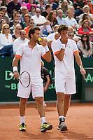 15-09-12, Netherlands, Amsterdam, Tennis, Daviscup Netherlands-Suisse, Doubles, Robin Haase/Jean-Julian Rojer  (L)