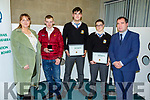 Colaiste na Realta Listowel at the ETB Awards evening in the I T Tralee on Friday night. <br /> L to r: Aoife Flynn, Diarmuid McDonald, Niall Stack, Mark Valiter and Stephen Guilding (Principal).