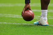1st October 2017, Wembley Stadium, London, England; NFL International Series, Game Two; Miami Dolphins versus New Orleans Saints; Jay Ajayi of the Miami Dolphins picks the ball up