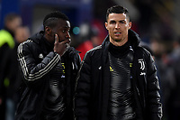 Blaise Matuidi of Juventus and Cristiano Ronaldo of Juventus talk before the Italy Cup 2018/2019 football match between Bologna and Juventus at stadio Renato Dall'Ara, Bologna, January 12, 2019 <br />  Foto Andrea Staccioli / Insidefoto