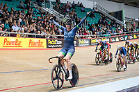Picture by Allan McKenzie/SWpix.com - 06/01/2018 - Track Cycling - Revolution Champion Series 2017 - Round 3 - National Cycling Centre, Manchester, England - Team Rowe and King's Kirsten Wild takes first place in qualifying during the Women's Elite Championship points race.