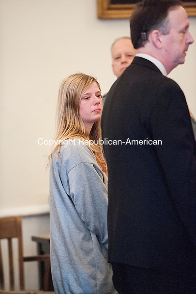 LITCHFIELD, CT-1 May 2015-050115EC04-  Heather Birden was charged with murder Friday morning in Litchfield Superior Court. The 20-year-old is accused of killing Holly Aeschlimann, 19, on April 17 in Torrington. Erin Covey Republican-American