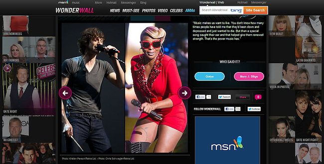 msn.com - Wonderwall November 2012