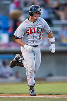 Koby Clemens (2) of the Salem Avalanche hustles down the first base line at Ernie Shore Field in Winston-Salem, NC, Thursday July 27, 2008. (Photo by Brian Westerholt / Four Seam Images)