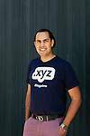 Daniel Negari bought a former Yahoo office to house his business .XYZ. The office has a community kitchen, whiteboard walls, and lots of unique art throughout, he is seen on the roof in Santa Monica, California July 29, 2015. <br /> (Photo by Kendrick Brinson)