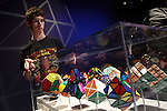 NEWS-People attend 'Beyond Rubik's Cube' exibition during the 40th anniversary of the famous cube
