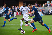 February 2nd 2019, San Jose, California, USA; USA midfielder Paul Arriola (14) defended by Costa Rica defender Keysher Fuller (4) during the international friendly match between USA and Costa Rica at Avaya Stadium on February 2, 2019 in San Jose CA.