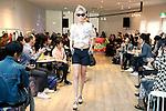 Models wearing Spanish fashion brand Desigual walk down the runway during the Desigual 2014 Spring & Summer Collection in Tokyo, Japan, November 18, 2013. (Photo by Rodrigo Reyes Marin/AFLO)