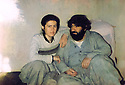 Iraq 1982 .Hama Haji Mahmoud and his wife , Tamin in a base of the Kurdish Socialist Democratic party in Surien .Iraq 1982 .Hama Haji Mahmoud avec sa femme, Tamin, a Surien, base du parti socialiste democratique du Kurdistan