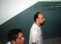 22 LUG 2001 Genova: vertice G8, controvertice Genoa Social Forum, la scuola DIAZ dopo l'irruzione nella notte della polizia. .JUL 22 2001 Genoa: G8 Summit, anti summit Genoa Social Forum, the Diaz school in the night after the police raid during the night.