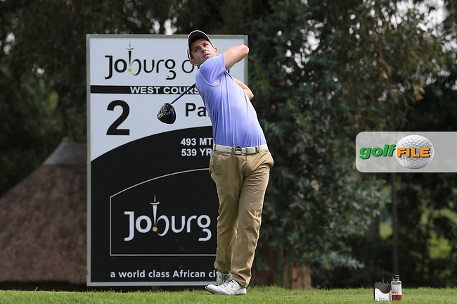 Peter Karmis (RSA) on the West Course during Round 2 of the 2016 Joburg Open Celebrating 10 years, played at the Royal Johannesburg and Kensington Golf Club, Gauteng, Johannesburg, South Africa.  15/01/2016. Picture: Golffile | David Lloyd<br /> <br /> All photos usage must carry mandatory copyright credit (&copy; Golffile | David Lloyd)